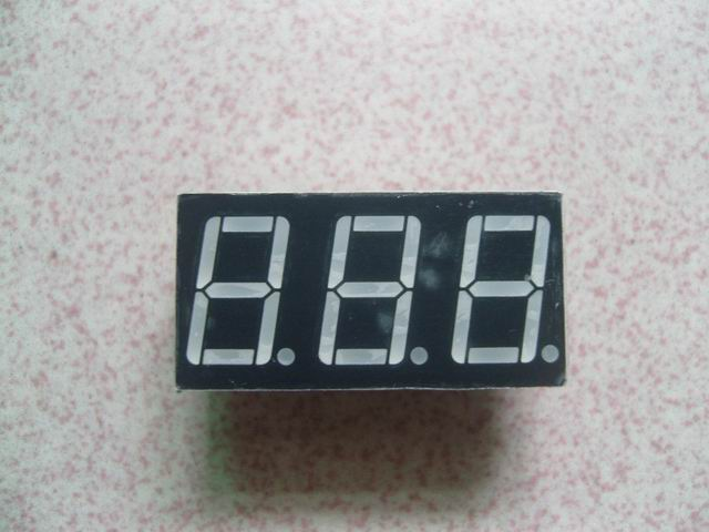 Three Digits Led Seven segment display