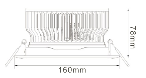 15W LED Ceiling Light Heat Sink-STH15