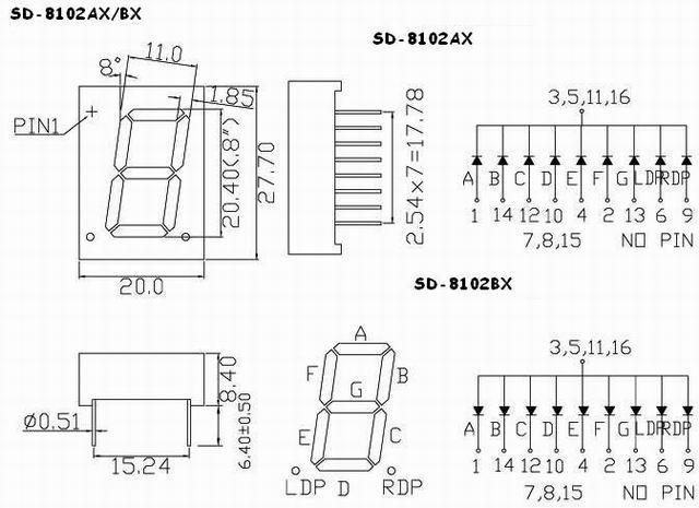 one digit led seven segment display  one digit 0 80 u0026quot