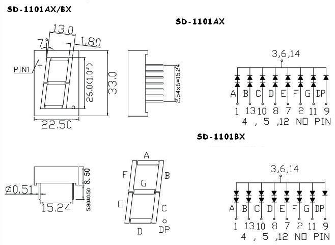 one digit led seven segment display  one digit 1 0 u0026quot